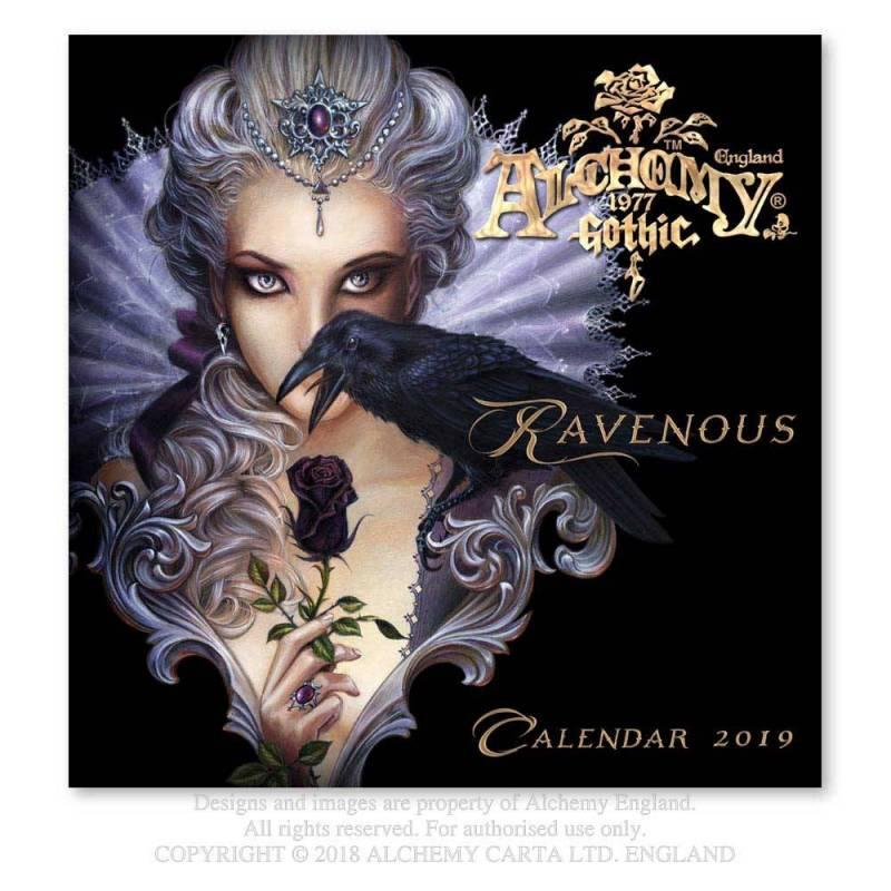 Alchemy Gothic 'Ravenous' 2019 Wall Calendar