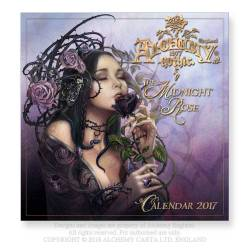 CAL17 - The Midnight Rose 2017 Wall Calendar