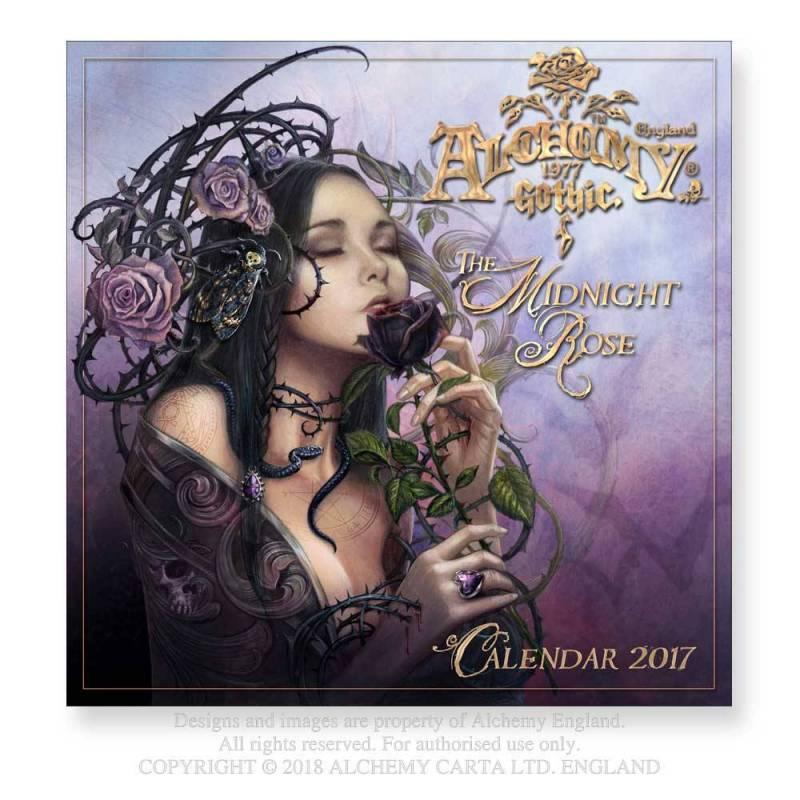 The Midnight Rose 2017 Wall Calendar