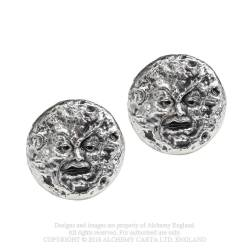 M'era Luna - Man In The Moon: Stud Earrings