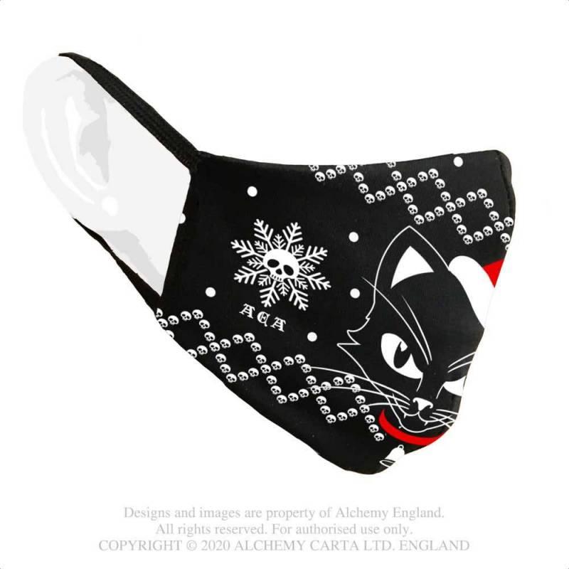 Black cat sublima Fashion Face Covering