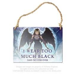 I wear to much black...