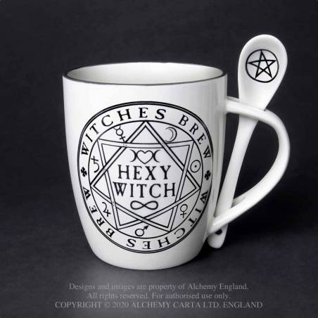 Hexy Witch: Mug and Spoon Set