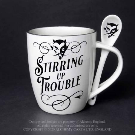 Stirring up Trouble: Mug and Spoon Set