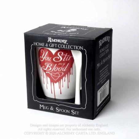 You Stir My Blood: Mug and Spoon Set