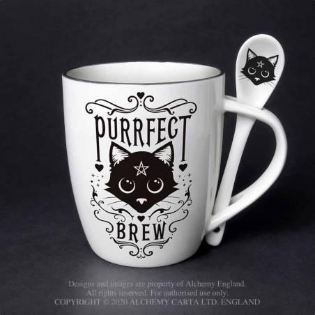 Purrfect Brew: Mug and Spoon Set