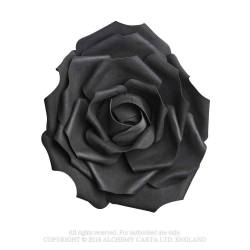 Large Black Rose Head