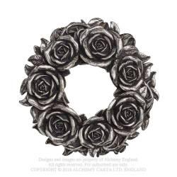 V65 - Black Rose Wreath
