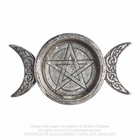 Triple Moon Trinket Dish / Candle Holder
