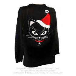 Black Cat Christmas Jumper