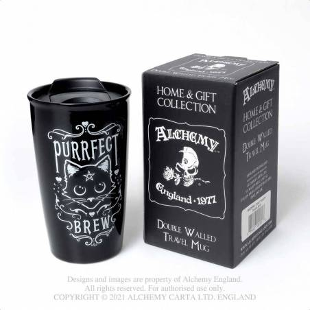 Purrfect Brew: Double Walled Mug