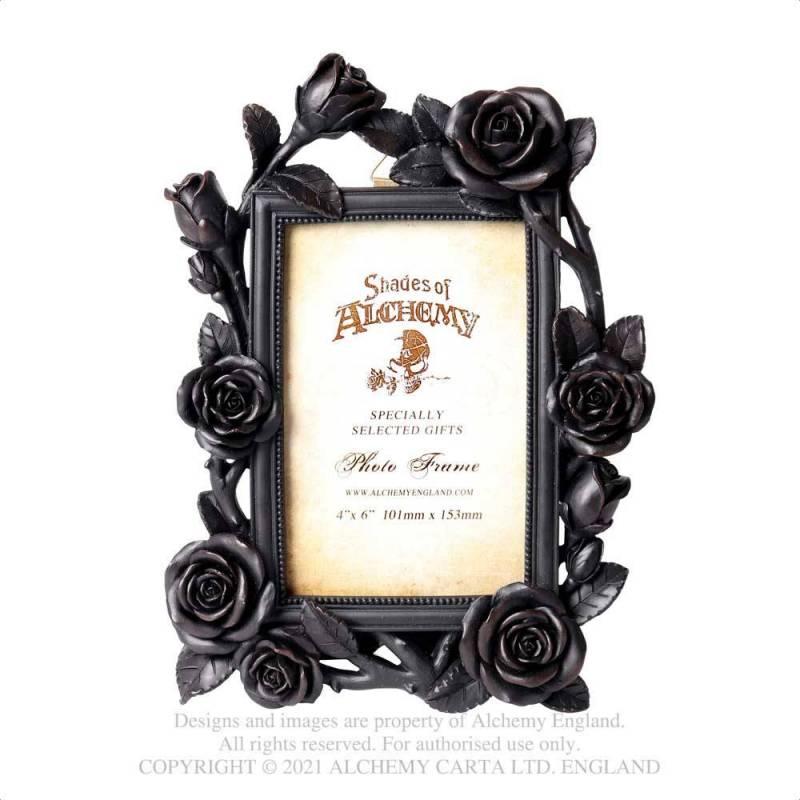 "Rose & Vine Photo Frame (6x4"") Black"