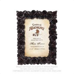 "Rose Photo Frame (6x4"") Black"