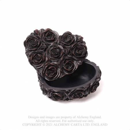 Rose Heart Box - Black