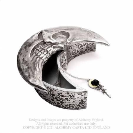 Skull Moon Box - Silver