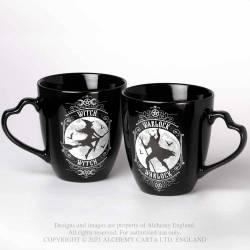 Witch & Warlock Couple Mug Set