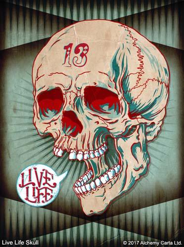 Live Life Skull (CA888UL13)