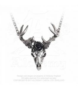 White Hart, Black Rose Necklace (P807)