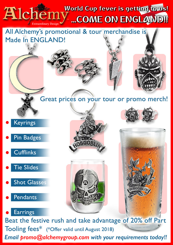 Alchemy also make Promotional & Tour Merchandise!