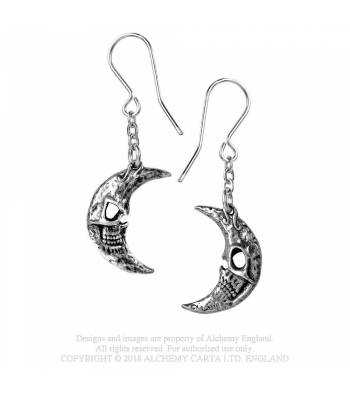 M'era Luna Crescens - Tragicom Moon Earrings (E385)