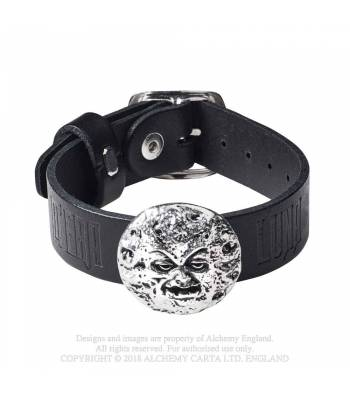 M'era Luna - Man In The Moon: Leather Wriststrap (A119)