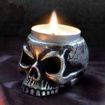 Skull - Tea Light Holder (V74)